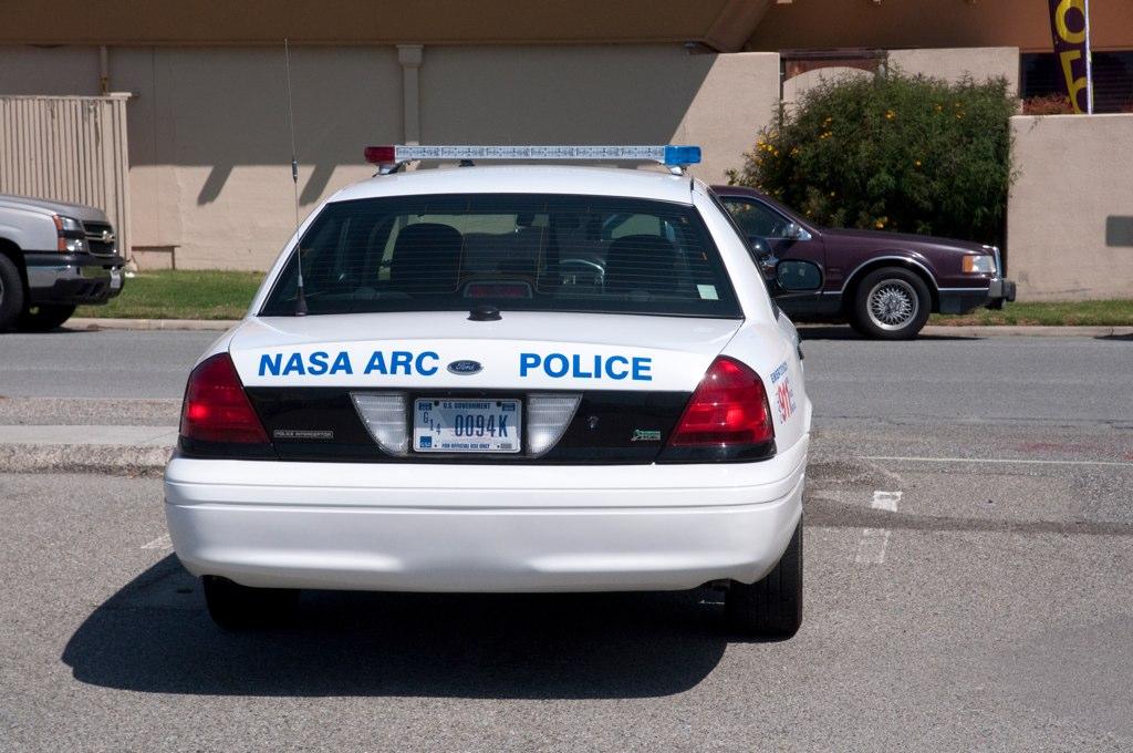 the back of the police car nasa arc police brian imagawa flickr. Black Bedroom Furniture Sets. Home Design Ideas