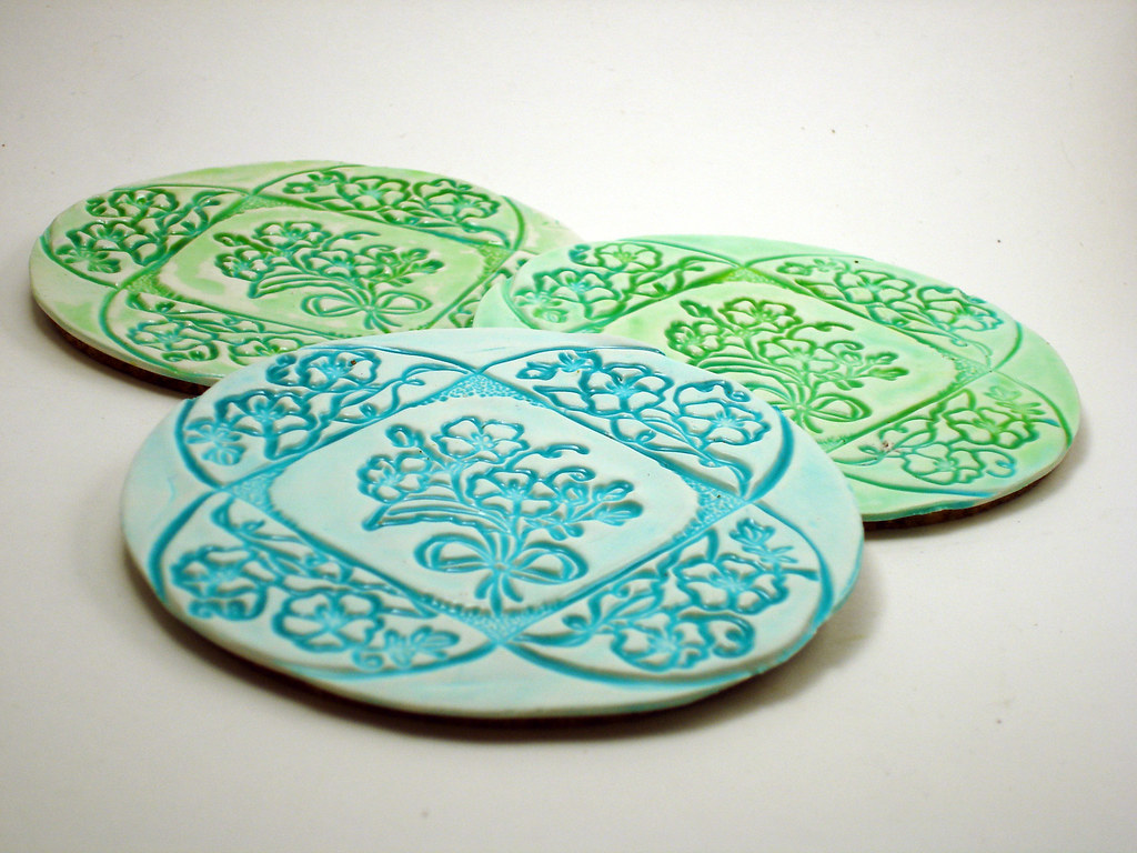 Faux Ceramic Coasters Polymer Clay Coasters Made As
