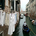 2002 Venice drying laundry by a canal