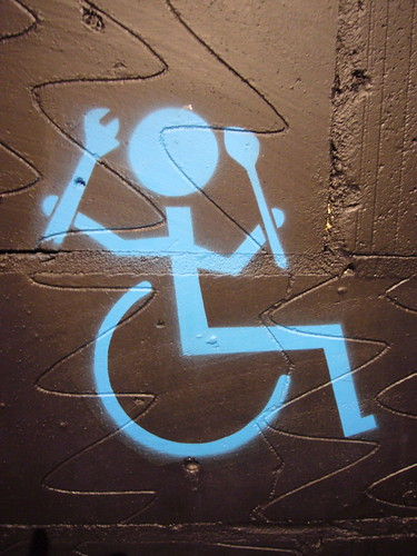 Tool-wielding wheelchair user | by clagnut
