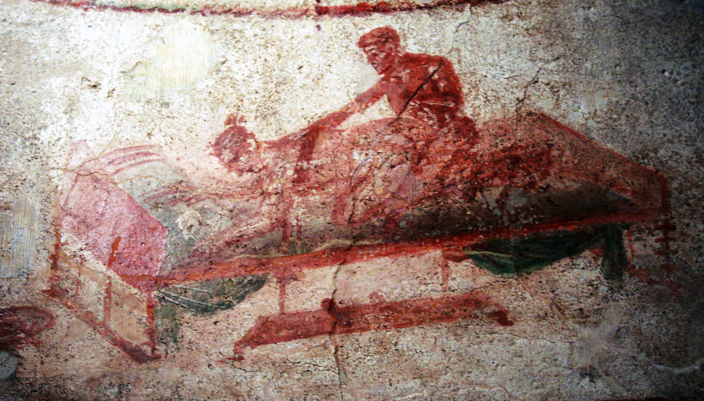 Pompeii Lupinare Art 3 Artwork On The Walls Inside The