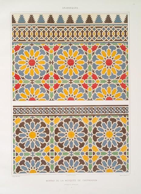 Mihrab de la mosqu e de cheykhoun fa ences murales flickr for Faiences murales