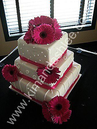 Pink Daisy Cake Decoration : Pink Gerbera daisy cake www.kimandashlee.com Chocolate ...
