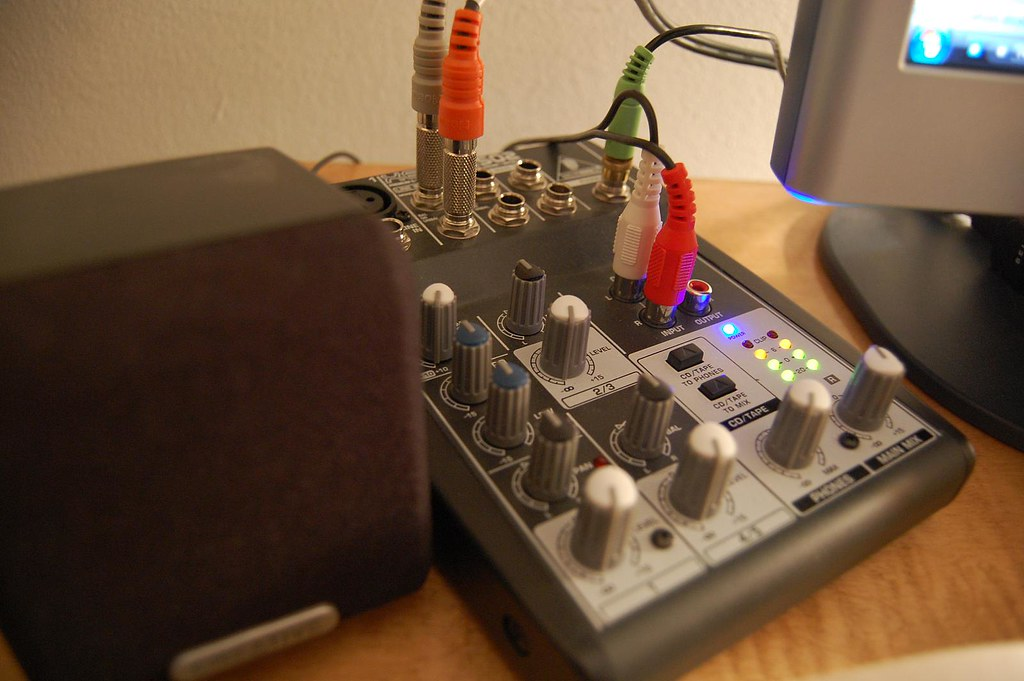 new mixer setup using my behringer xenyx 502 as a monitor flickr. Black Bedroom Furniture Sets. Home Design Ideas