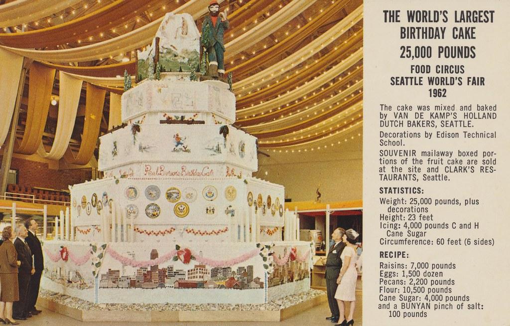 the worlds largest birthday cake 1962 seattle worlds f