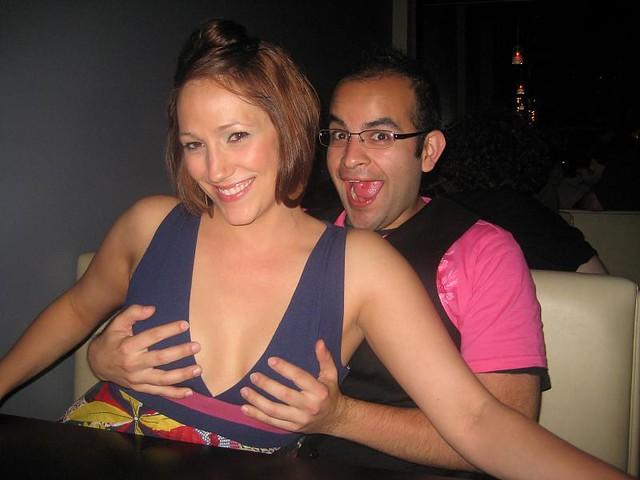 Grab the boobs