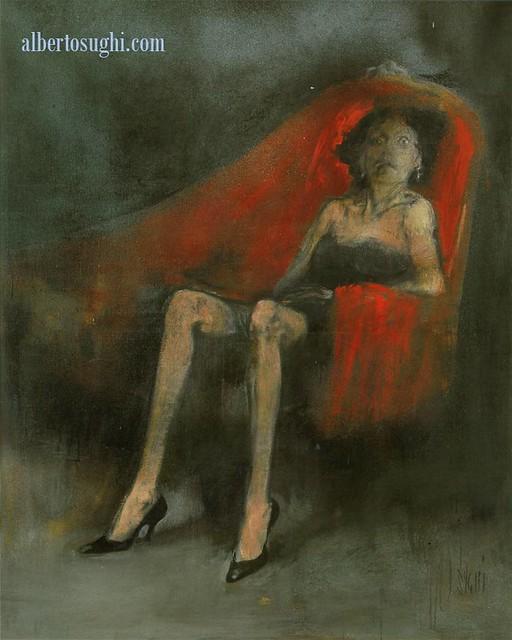 Alberto sughi donna sul divano rosso 1959 there were - Sesso sfrenato sul divano ...
