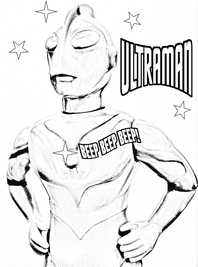 Ultraman Coloring Page I M Taking Some Choice Kaiju Art Co Flickr Coloring Pages Ultraman