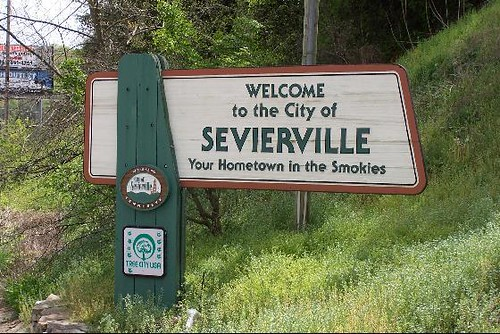 Sevierville Welcome Sign Sevierville Tennessee