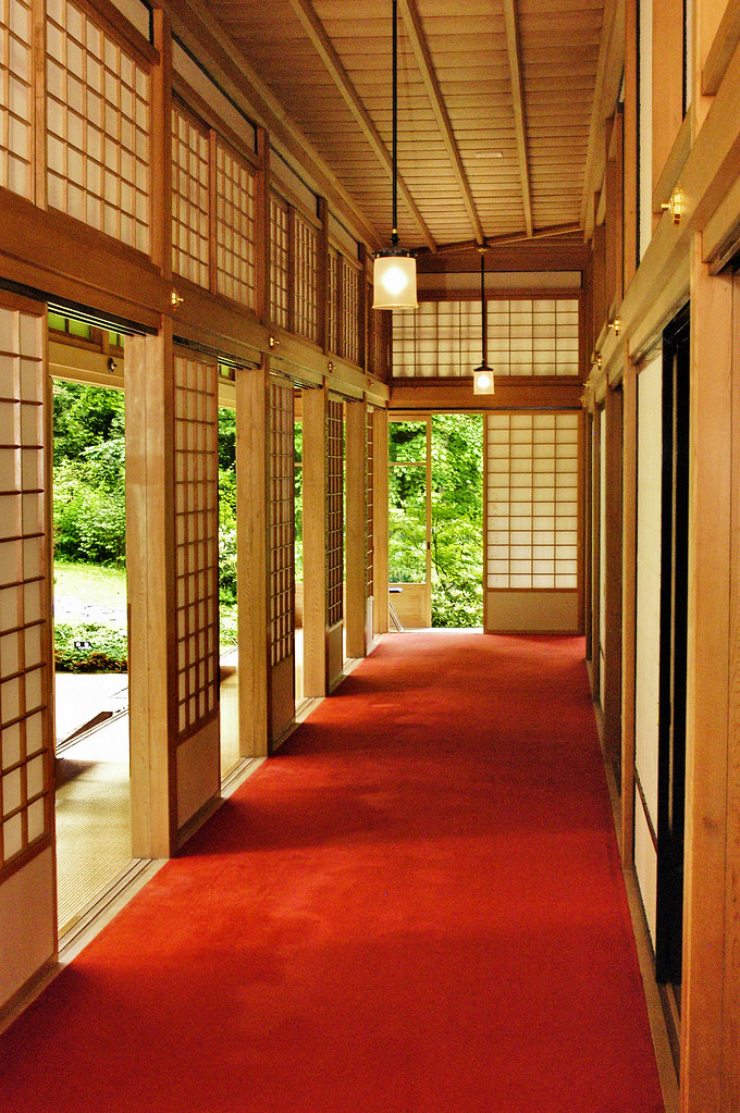 Summer Palace Nikko Japan A Corridor In The Old Summer