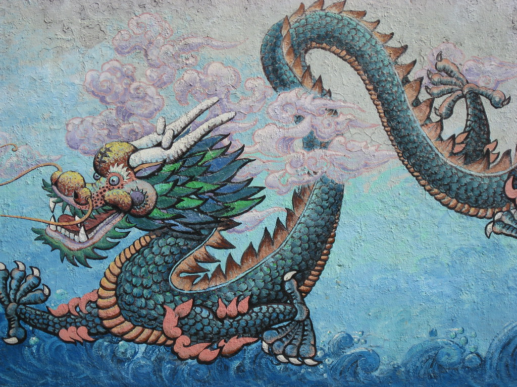 chinese dragon mural photo by sherrie thai of shaire