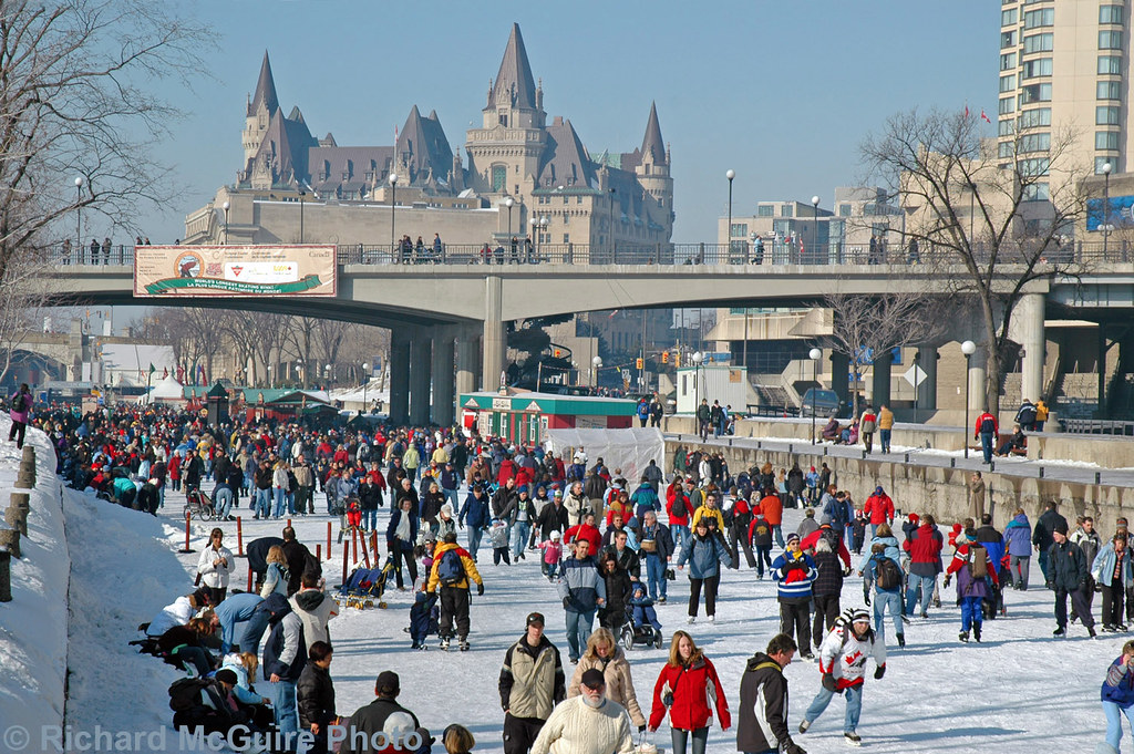 skaters rideau canal winterlude during winter the