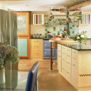 Colorful Tiles For Kitchen