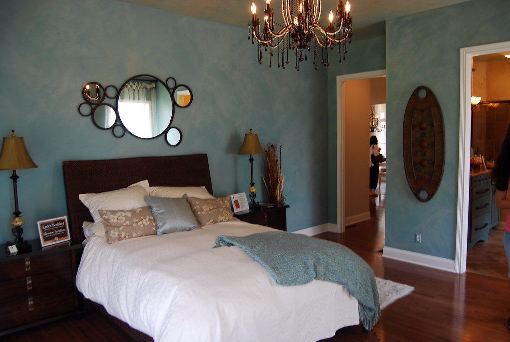 Dream Home Master Bedroom Relaxing Brown Amp Blue Color