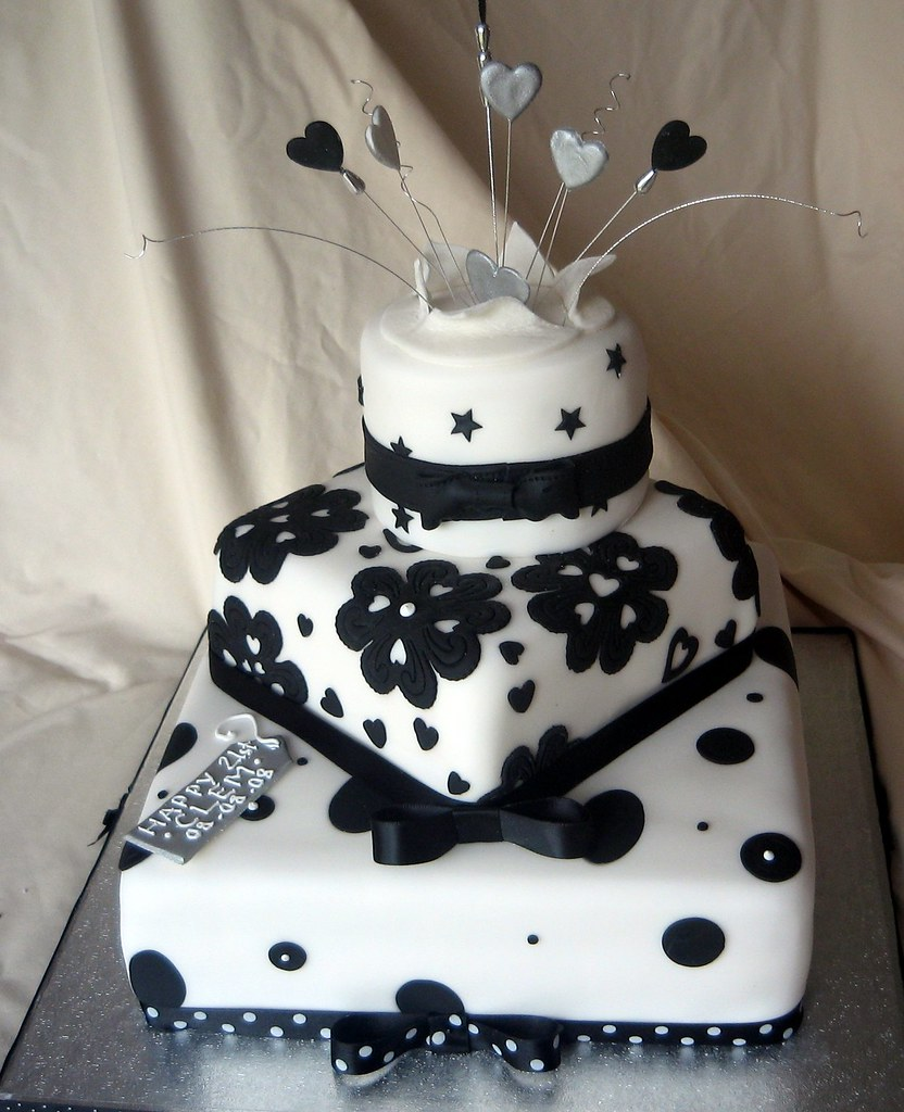 Black And White Cake Karen Lindsay Flickr