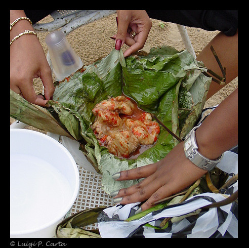 Congo River - Delicious fish in banana leaf (with pili pil… | Flickr