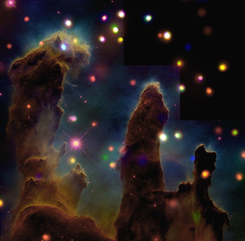 The Eagle Nebula (M16): Peering Into the Pillars of Creation (A nearby star-forming region about 7,000 light years from Earth.) | by Smithsonian Institution