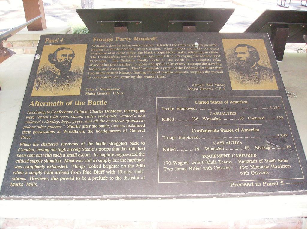 Aftermath Of The Battle Historical Marker Panel 4 Flickr