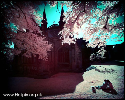 Picnic In The Cathedral Gardens, Chester UK (Colour IR) | by @HotpixUK -Add Me On Ipernity 500px