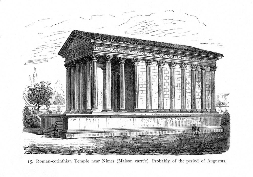 maison carree  rendering of exterior view