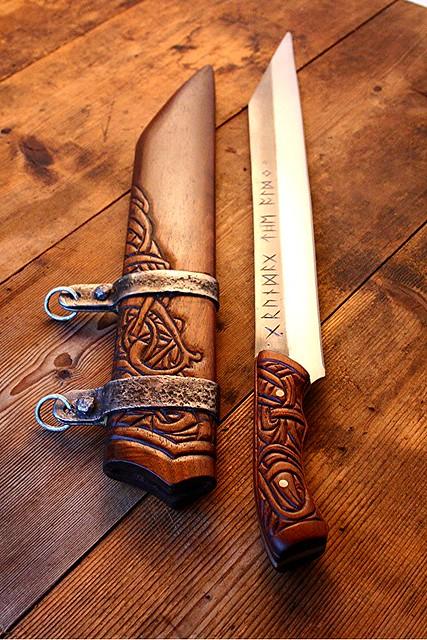 Grundag 6 | Grundag- Viking Long Seax forged by David ...