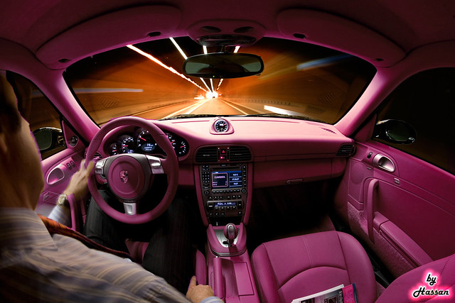 pink porsche carrera interior this is the car that all gir flickr. Black Bedroom Furniture Sets. Home Design Ideas
