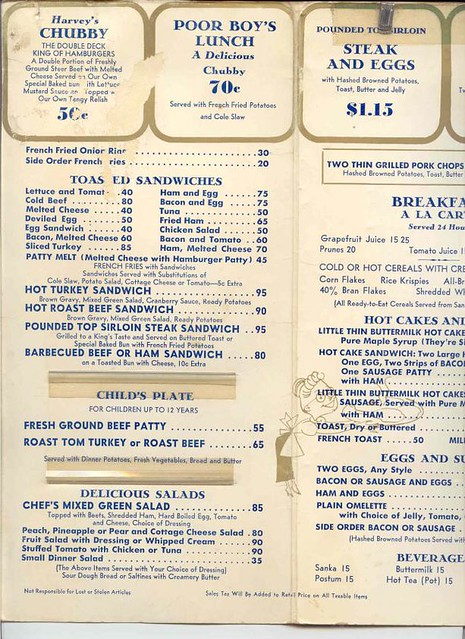 ... California Harvey's Broiler Menu | by The Downey Conservancy