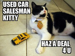 USED CAR SALESMAN KITTY | by victoriafee