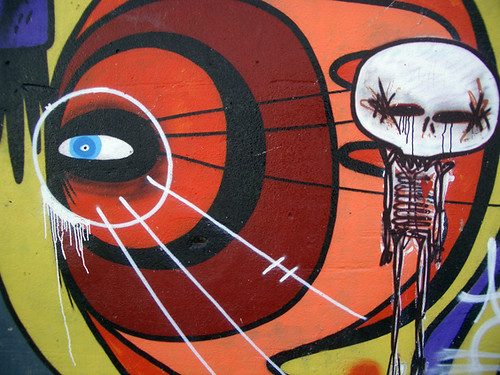 sixe skull graffiti mural sant andreu ideacat flickr. Black Bedroom Furniture Sets. Home Design Ideas