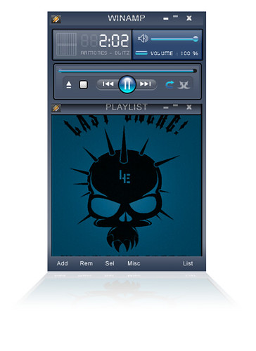 Winamp Skin Glassy Blue | by hairulazami
