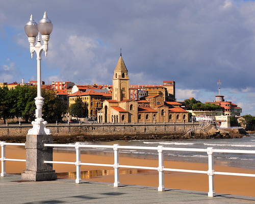 Gijon iglesia de san pedro y playa de san lorenzo wallpaper 4 3 flickr photo sharing - San pedro wallpaper ...