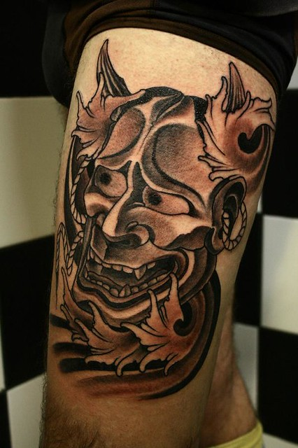 hannya south ink tattoo hannya fabio gargiulo flickr. Black Bedroom Furniture Sets. Home Design Ideas