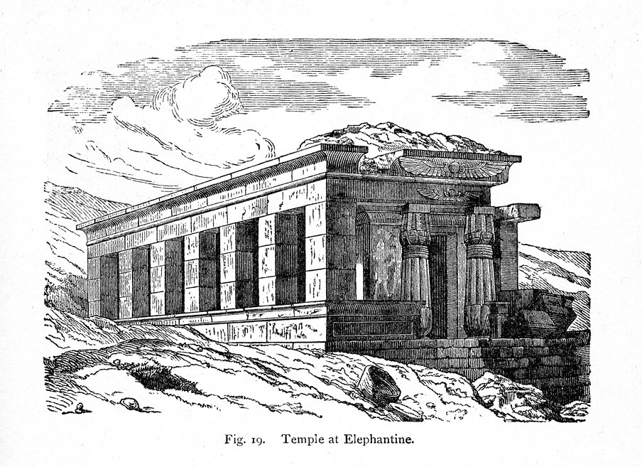 south temple of amenhotep iii rendering of exterior view