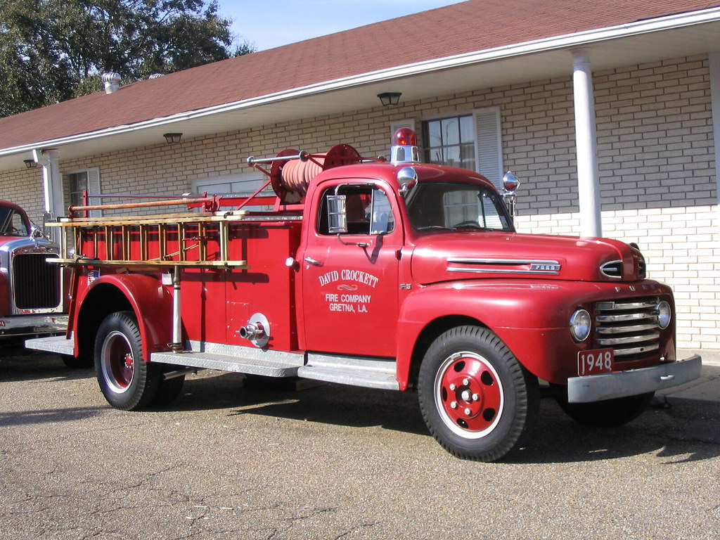 Old Fire Truck We Stopped In Gretna La And Happened To