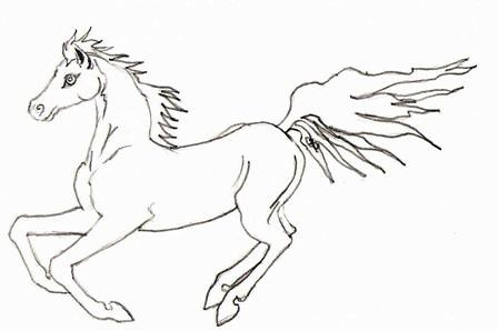 arabian horse running coloring pages - photo#2