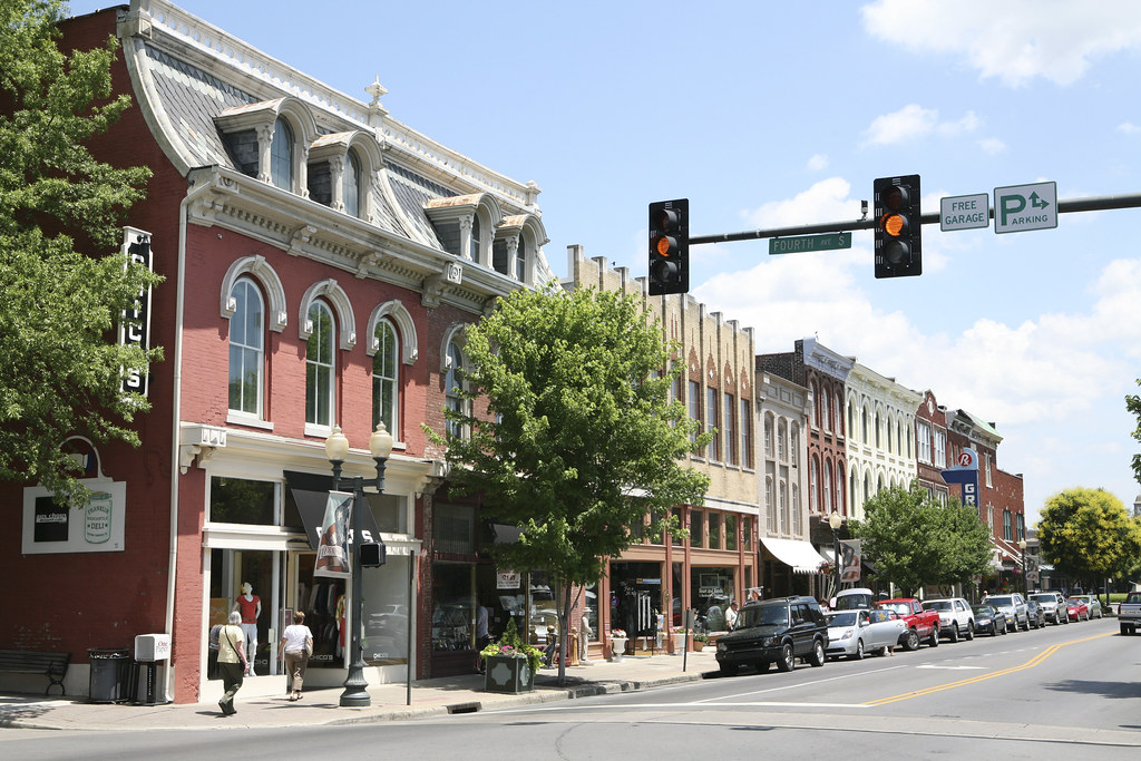 Downtown Franklin Tennessee Historic Buildings Along The