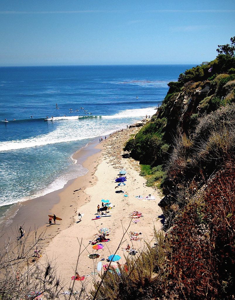Little Dume Beach on the Solstice | A busy day on Little
