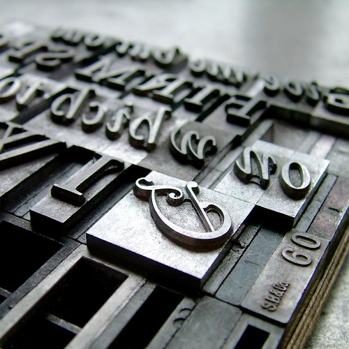 Detail of letterpress forme hand set in Garamond | by typoretum