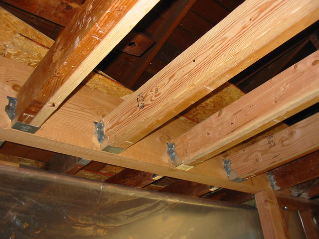 New Ceiling Joists Sistered Most Of The Roof Joists