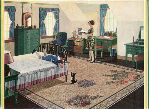 1928 congoleum rug attic bedroom flickr photo sharing for American house interior decoration