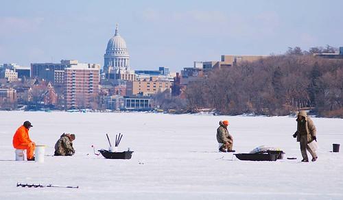 Stats suggest lake mendota will remain a giant iceberg a for Lake mendota fishing report