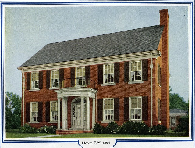 Bilt well homes of comfort bw 4204 brick colonial for Brick colonial house plans