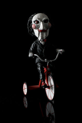 head knockers jigsaws puppet billy from the movie saw
