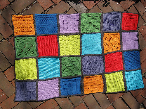 Quilt Patterns To Knit : finished knitted quilt for mia grwhyrpltd Flickr