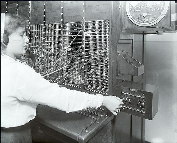 Switchboard Operator 1916 Photographer Rosenfeld And