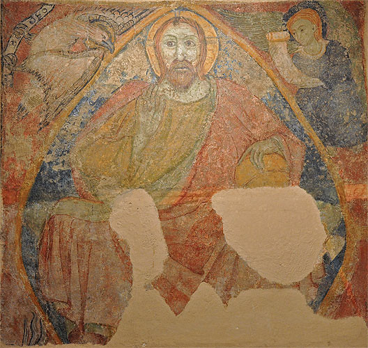 Monestir de Santa Maria de Lluçà  Decoració mural de Santa …  Flickr