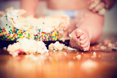 baby-toes & birthday cake bokeh! | by .:Michelle.Cordes:.