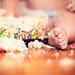 baby-toes & birthday cake bokeh!