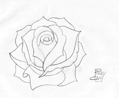 rose pencil sketch 4 | Flickr - Photo Sharing!  rose pencil ske...