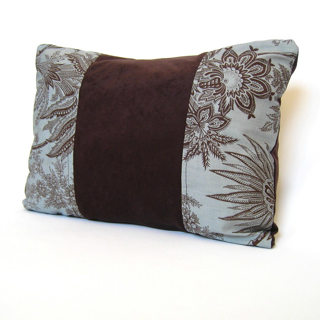 Throw Pillows For A Chocolate Brown Couch : Chocolate Brown Floral on Turquoise Blue Decorative Pillow? Flickr